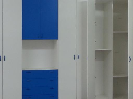 armadiatura con pianta a L e cabina armadio ad angolo